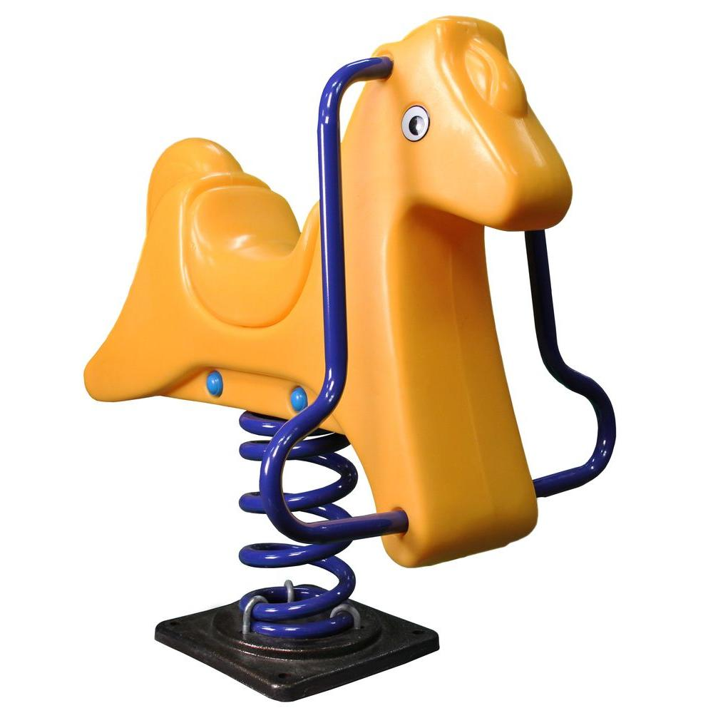 Gorilla Playsets Horse Spring Rider, Yellow
