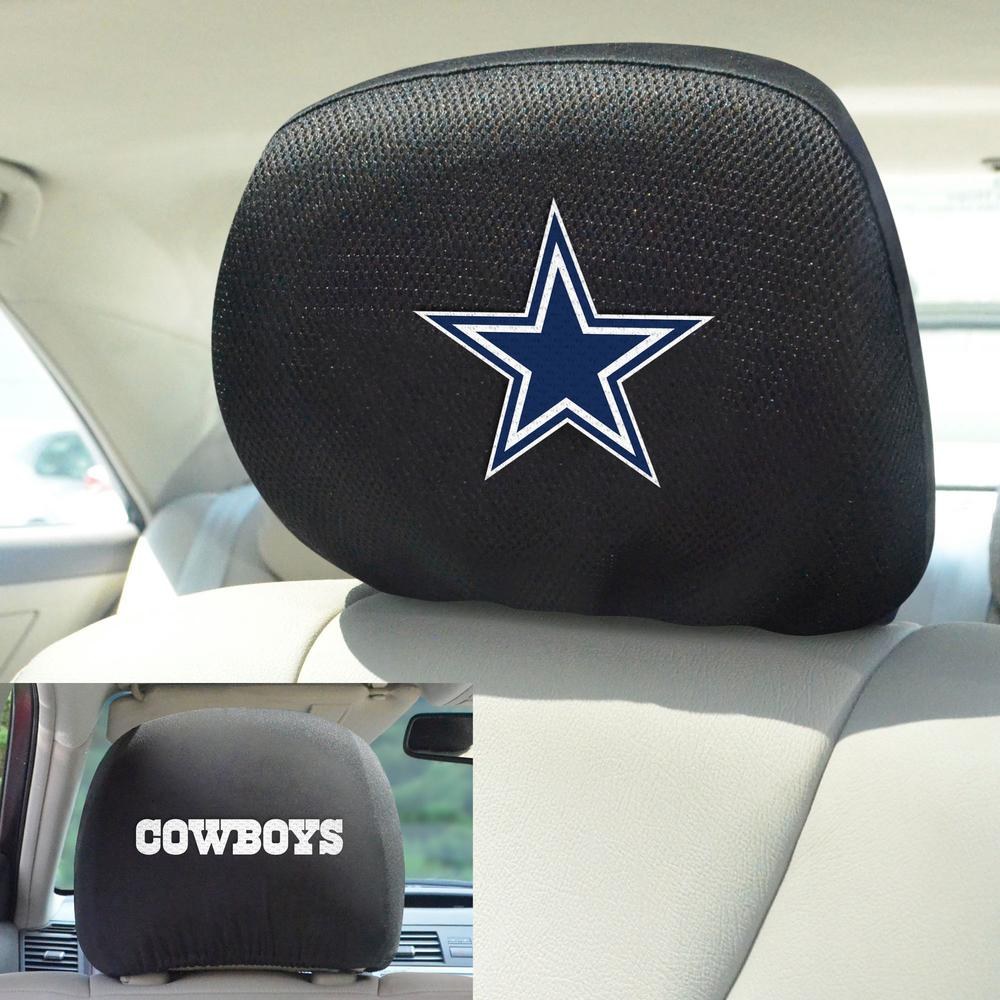 Outstanding Fanmats Nfl Dallas Cowboys Black Embroidered Head Rest Cover Set 2 Piece Alphanode Cool Chair Designs And Ideas Alphanodeonline