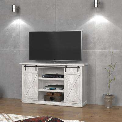 Cottonwood Sargent Oak and White Entertainment Center