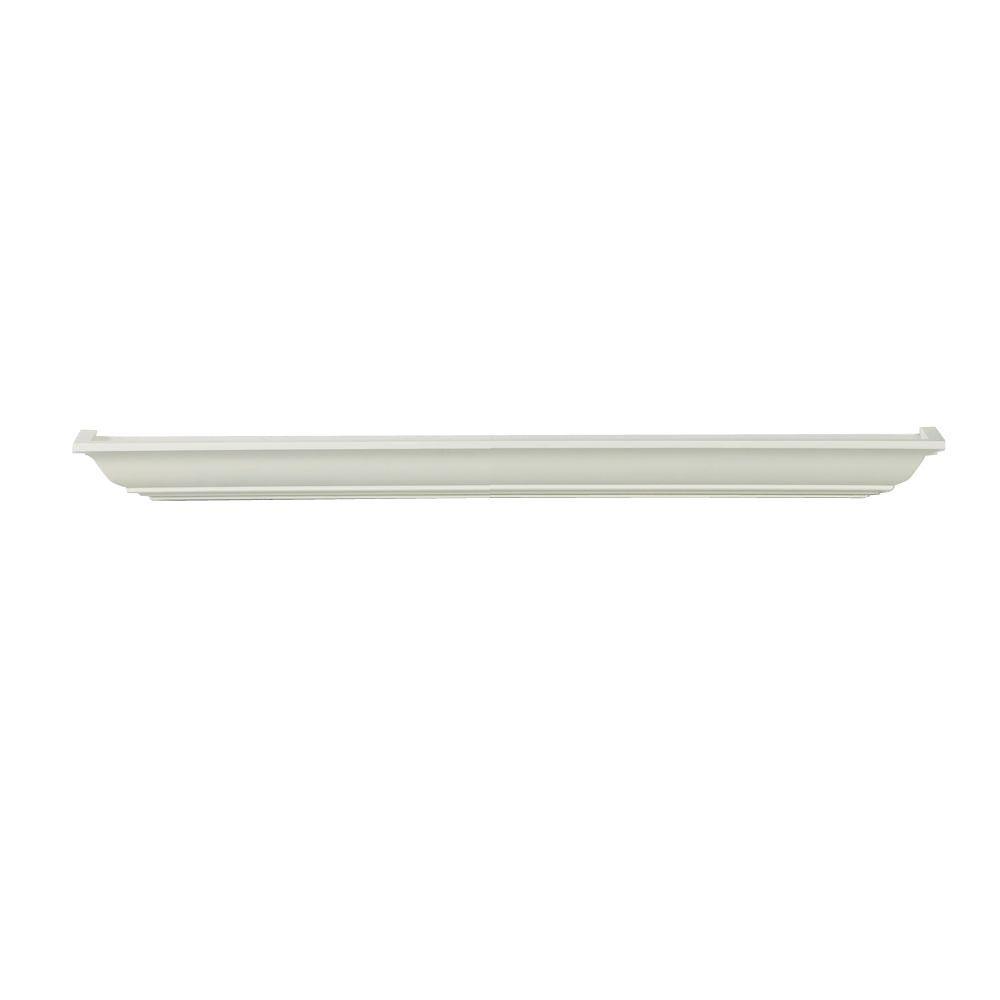 Lewis Hyman 24 in. W x 3.5 in. D x 2.75 in. H White Milan Mantle MDF Ledge Shelf