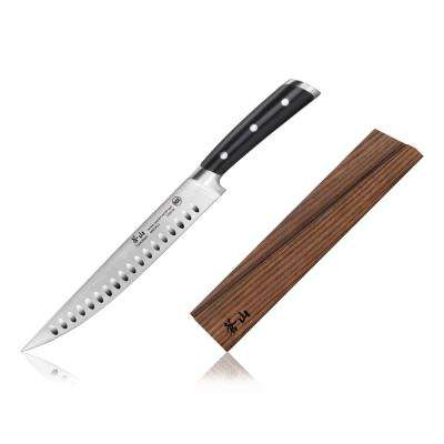 TS Series 9 in. Swedish Sandvik 14C28N Steel Forged Carving Knife and Wood Sheath Set