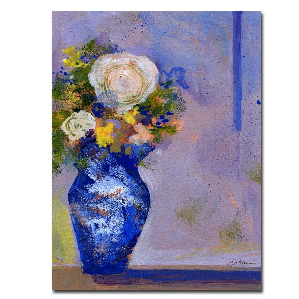 24 in. x 32 in. Blue Vase Canvas Art