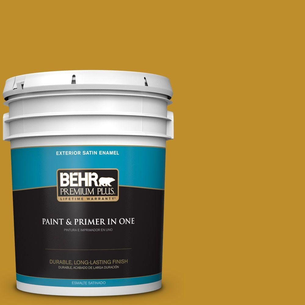 5-gal. #360D-7 Brown Mustard Satin Enamel Exterior Paint