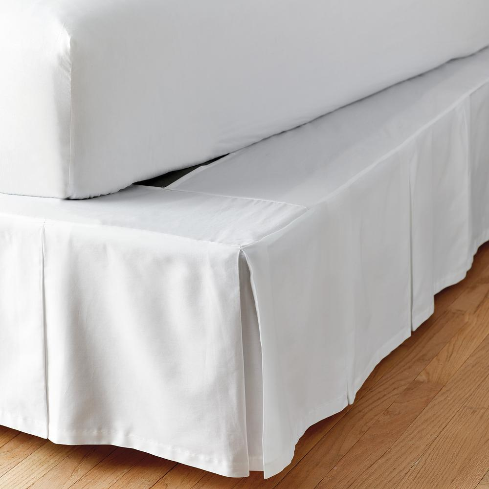 "CHOOSE SIZE 36/"" DROP LENGTH IVORY SOLID DUST RUFFLE BED SKIRT 100/% COTTON 1000TC"