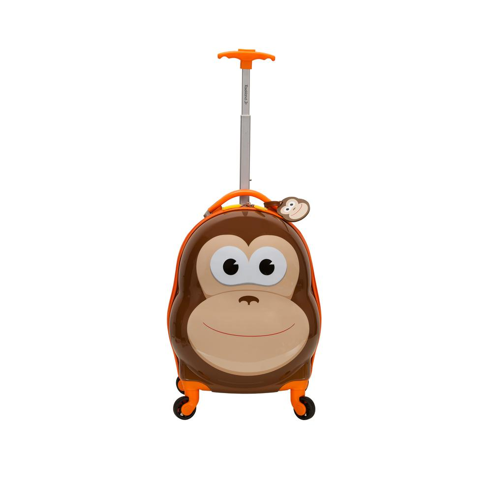 Rockland 17 in. Jr. Kids' My First Polycarbonate Hardside Spinner Luggage, Monkey
