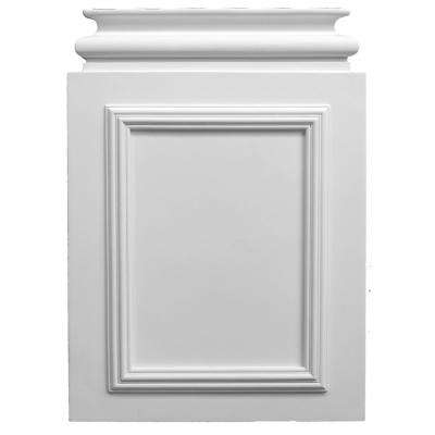2-1/8 in. x 15 in. x 20-7/8 in. Plain Polyurethane Plinth Base for Pilaster