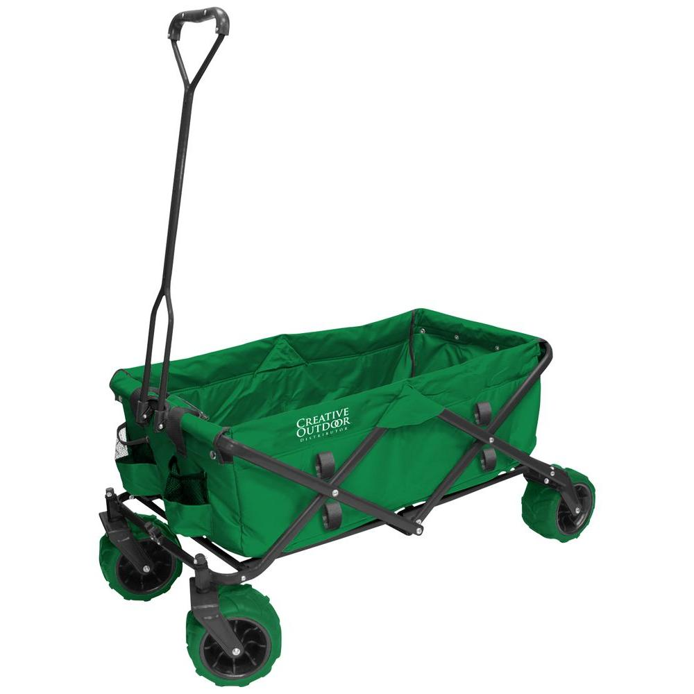 7 cu. ft. Folding Garden Wagon Carts in Green