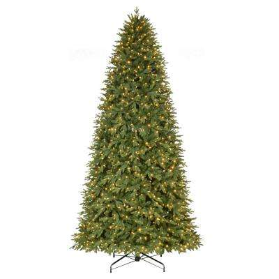 12 ft. Pre-Lit LED Monterey Fir Quick Set Artificial Christmas Tree with Color Changing Lights