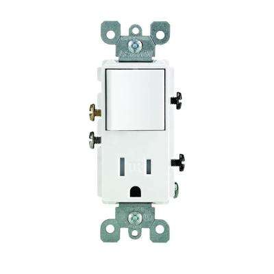 Decora 15 Amp Tamper Resistant Combo Switch and Outlet, White