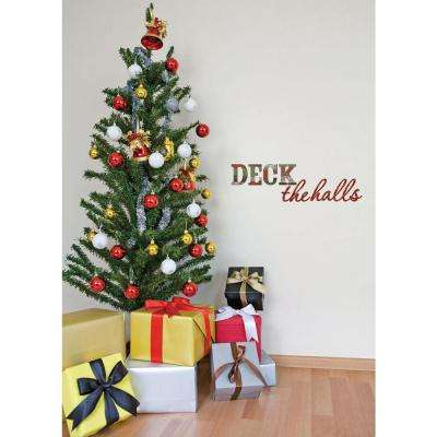 33.5 in. x 10.25 in. Deck the Halls Wall Quote