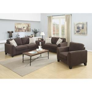 Pleasing Brighton Chocolate Contemporary Textured Microfiber Loveseat Gmtry Best Dining Table And Chair Ideas Images Gmtryco