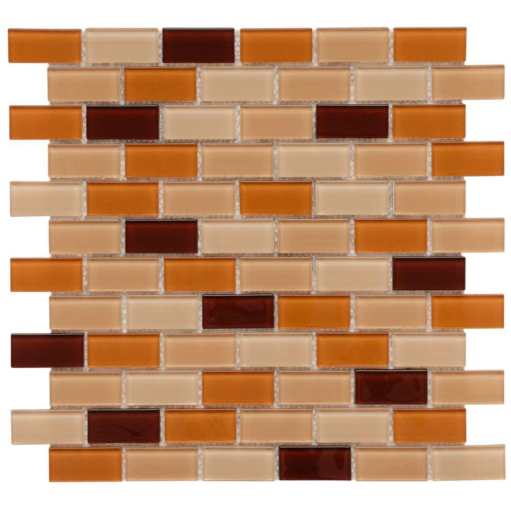 excellent orange bathroom floor | Merola Tile Spectrum Cafe 11-3/4 in. x 11-3/4 in. x 5 mm ...