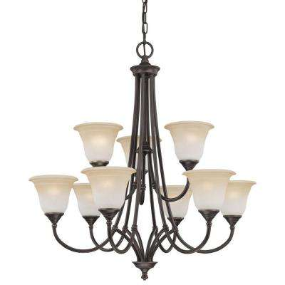 Harmony 9-Light Aged Bronze Chandelier