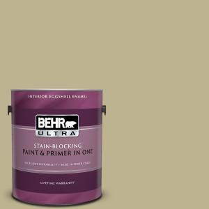 Behr Ultra 1 Gal Ppu9 10 Wasabi Powder Eggshell Enamel Interior Paint And Primer In One 275401 The Home Depot