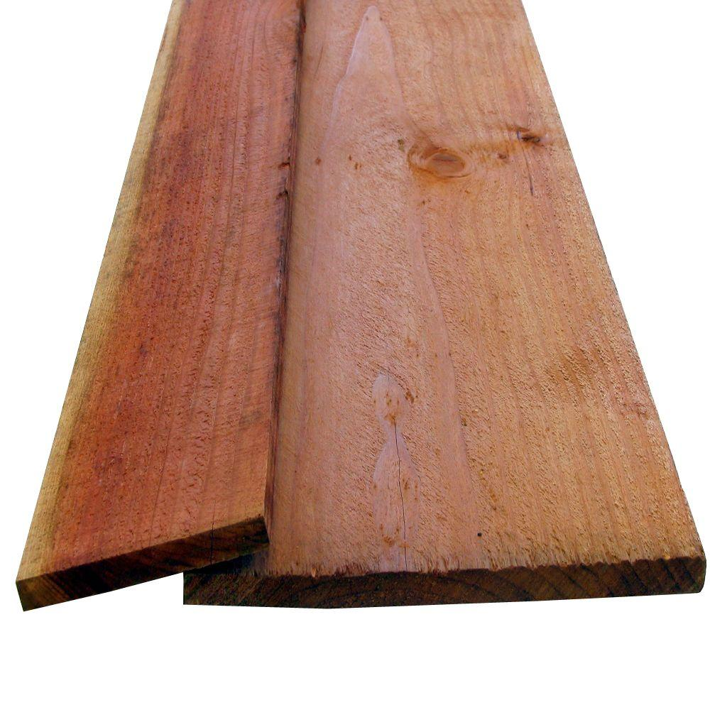 Redwood Rough Board (Common: 11/16 in  x 11-1/2 in  x 8 ft