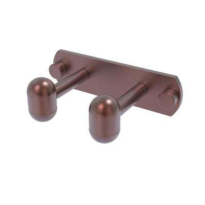Tango Collection 2 Position Robe Hook in Antique Copper
