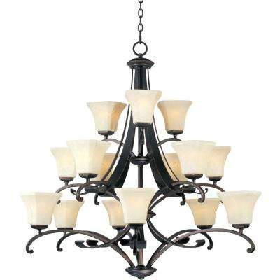 Oak Harbor 15-Light Rustic Burnished Multi-Tier Chandelier