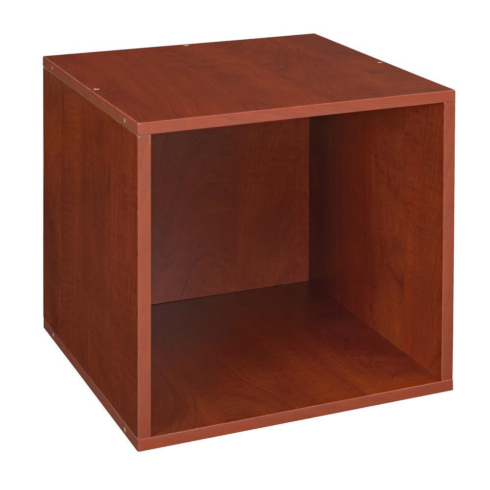 Cubo 13 in. x 13 in. Warm Cherry Modular 1-Cube Organizer