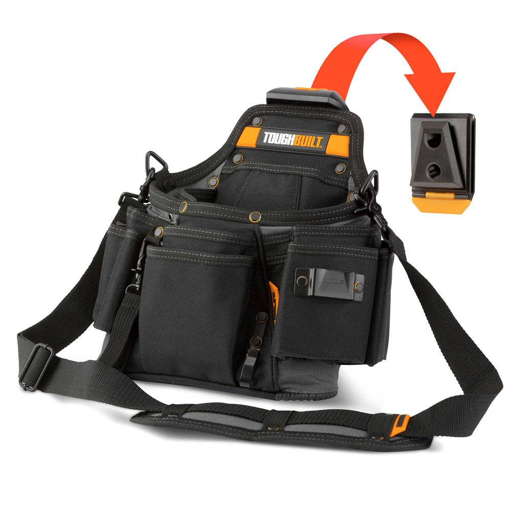 7a0f628a83 TOUGHBUILT Service Pouch 12.60 in. Tool Bag with 20-Pockets Shoulder Strap  and Loops