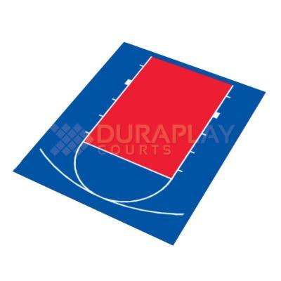 20 ft. 5 in. x 24 ft. 7 in. Half Court Basketball Kit