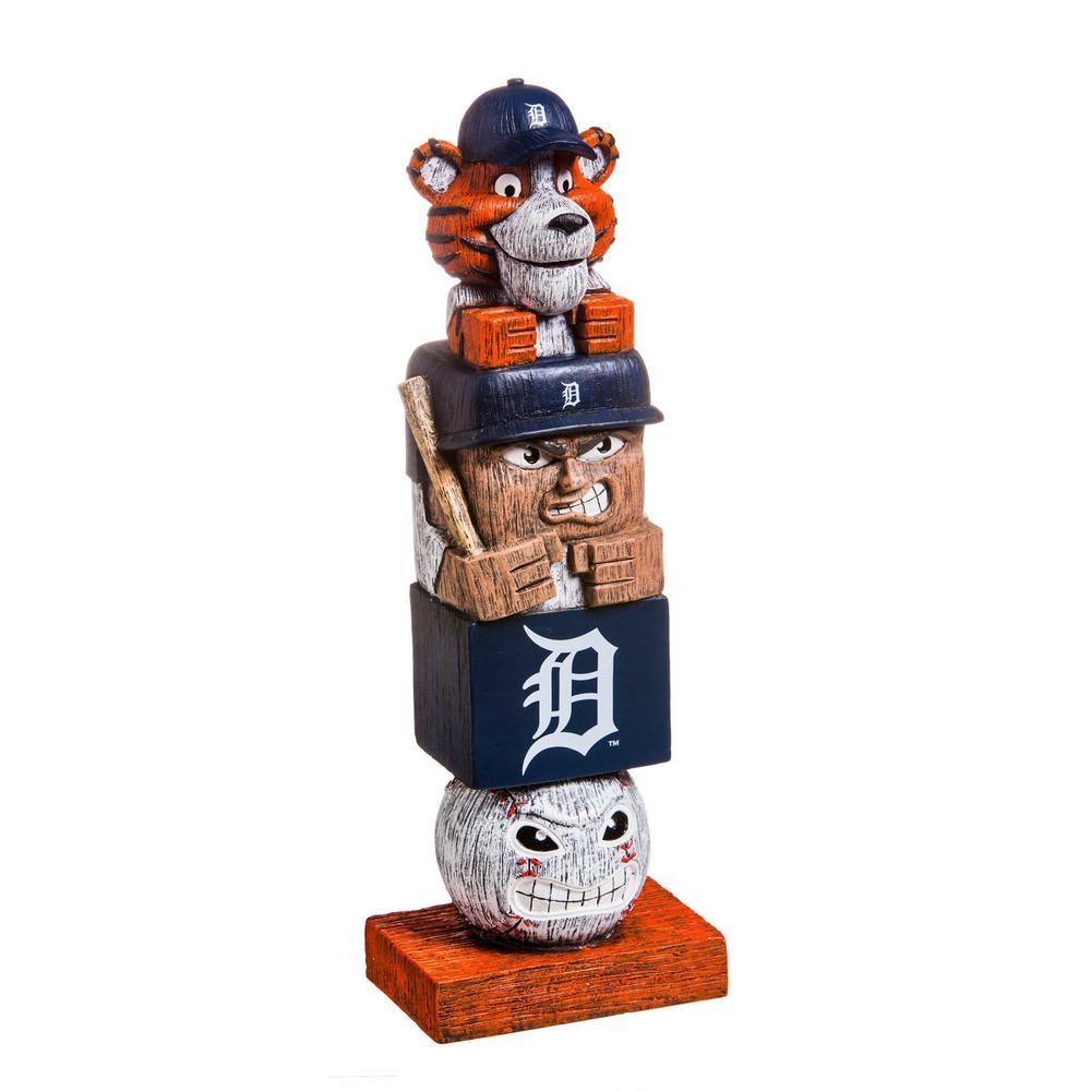 Detroit Tigers Tiki Totem Garden Statue