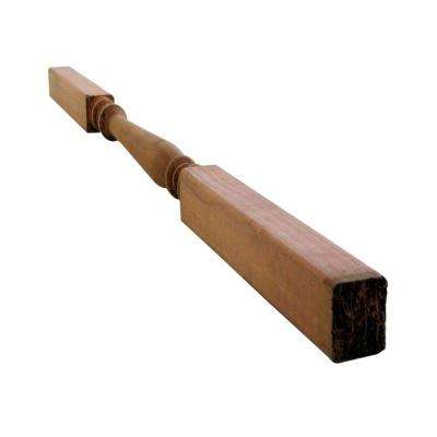 Baluster Turned Redwood (Common: 1-3/8 in. x 1-3/8 in. x 3 ft.; Actual: 1.38 in. x 1.38 in. x 36 in.)