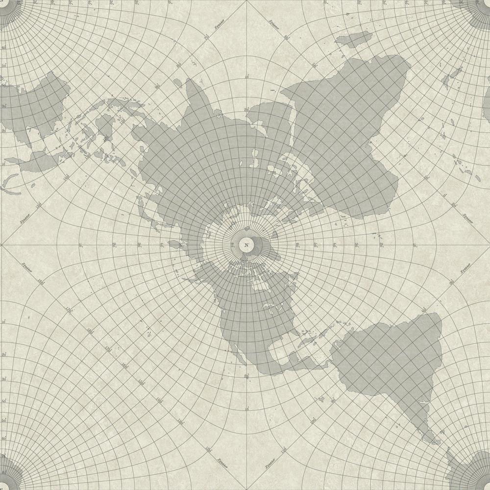 RoomMates 28.18 sq. ft. Maritime Maps Peel and Stick Wallpaper RMK11076WP