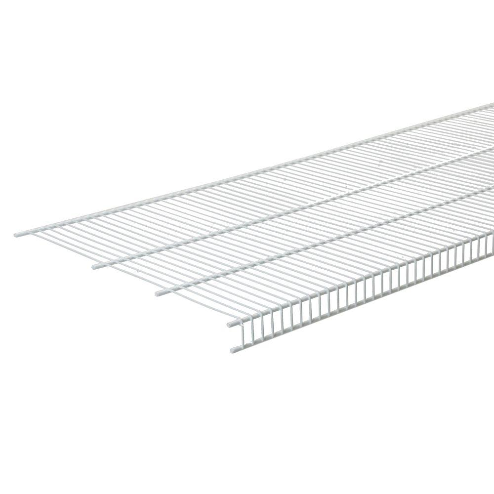 144 in. W x 20 in. D White Steel Close Mesh