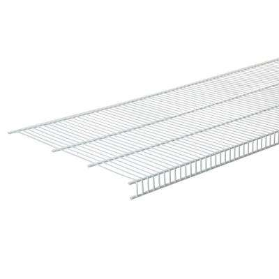 newest 5496c d848c 144 in. W x 20 in. D White Steel Close Mesh Ventilated Wall Mounted Wire  Shelf