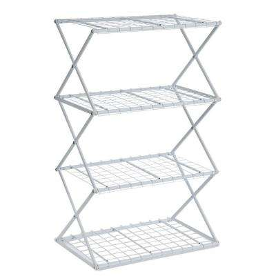 Exy 4-Tier Powder-Coated Steel Tube Shelving in White