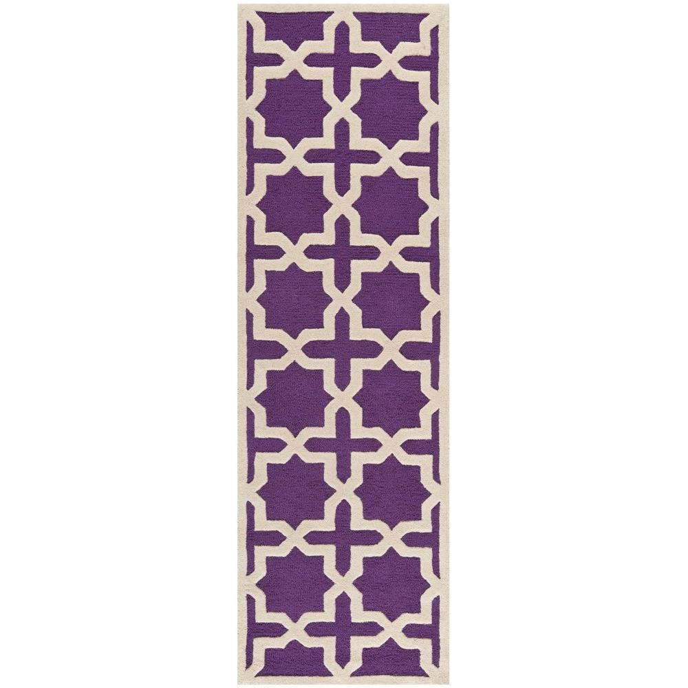 Safavieh Cambridge Purple/Ivory 2 ft. 6 in. x 6 ft. Runner