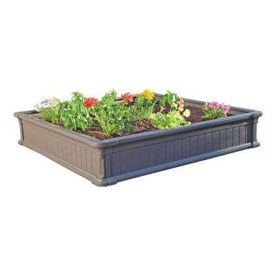 4 ft. x 4 ft. Plastic Raised Garden Bed