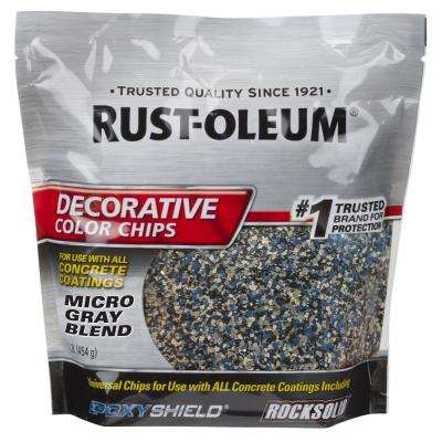 1 lb. Micro Gray Decorative Color Chips (6 Pack)