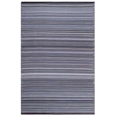 Cancun Indoor/Outdoor Midnight 5 ft. x 8 ft. Area Rug