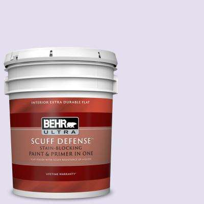 5 gal. #P560-1 Blissful Extra Durable Flat Interior Paint and Primer in One
