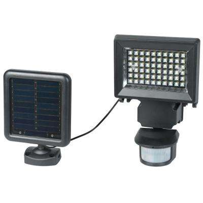 120 Degree Solar Black Outdoor LED Motion Security Light