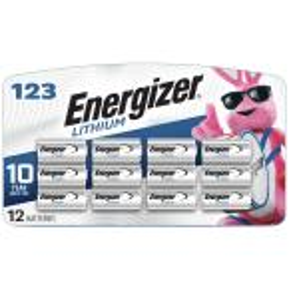 123 Lithium Batteries (12 Pack), 3V Photo Batteries