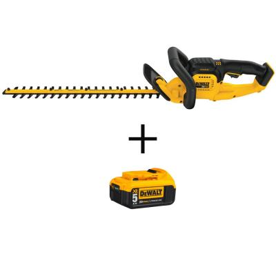 20-Volt MAX Lithium-Ion Cordless 22 in. Hedge Trimmer (Tool Only) with Bonus 20-Volt MAX XR Li-Ion Premium Batter 5.0Ah