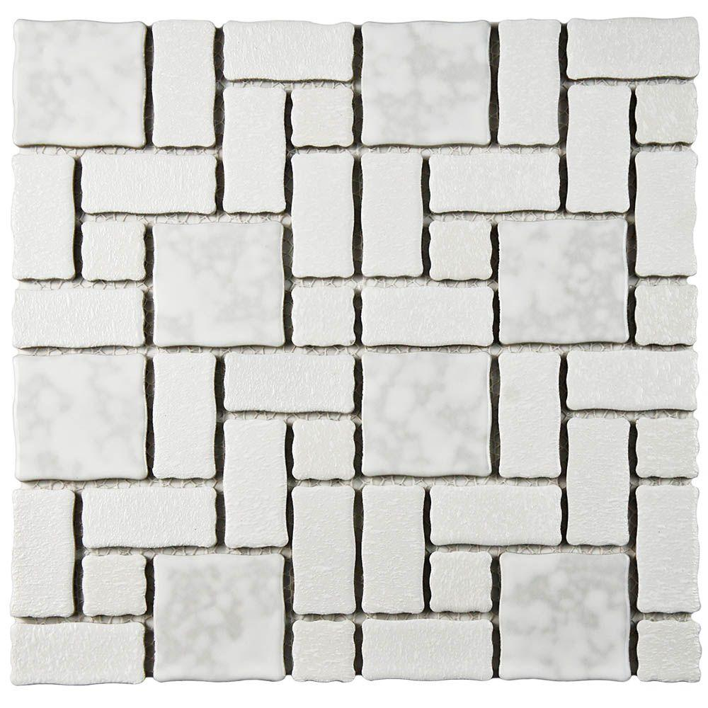 Academy White 11-3/4 in. x 11-3/4 in. x 5 mm Porcelain