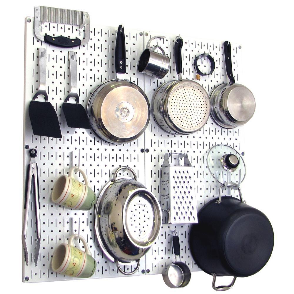Wall Control Kitchen Pegboard 32 In X 32 In Metal Peg
