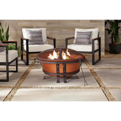 34 in. Whitlock Cast Iron Fire Pit