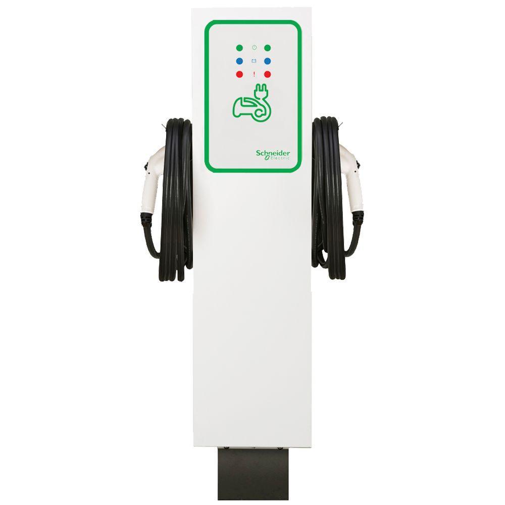 EVlink 30 Amp Level-2 Outdoor Dual Unit Pedestal Electric Vehicle Charging Station