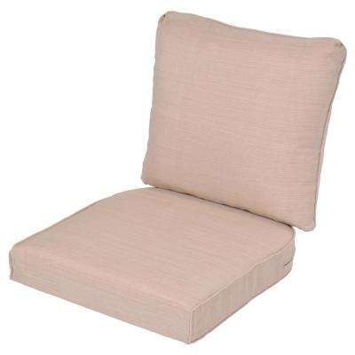 Superbe Lemon Grove Oatmeal Replacement 2 Piece Outdoor Dining Chair Cushion