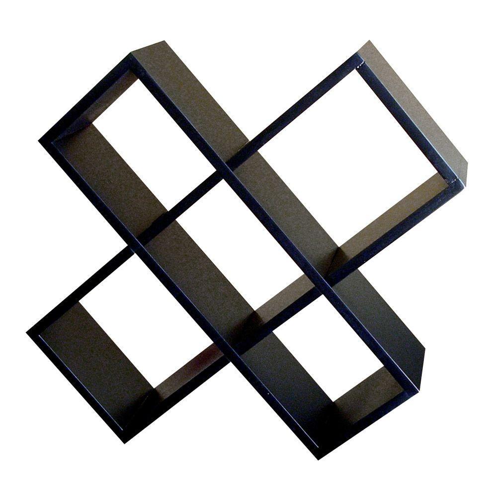 Crisscross Black painted Media Storage