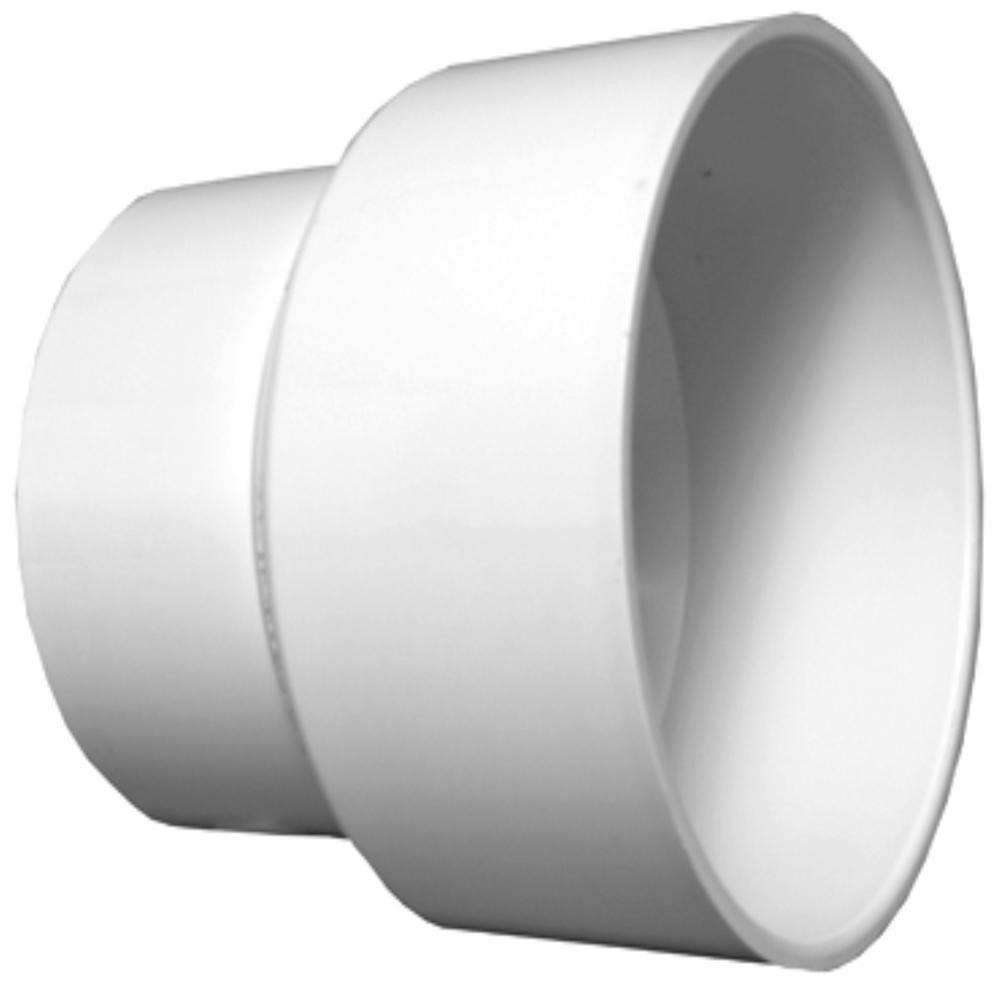 4 in. x 10 in. PVC DWV Pipe Increaser Reducer
