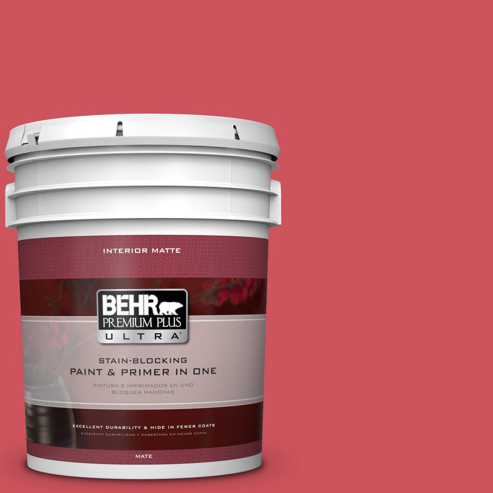 BEHR Premium Plus Ultra 5-gal. #T15-14 Super Hero Flat/Matte Interior Paint