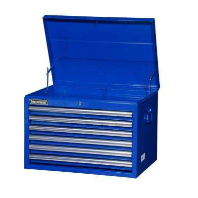 Tech Series 27 in. 6-Drawer Top Chest, Blue
