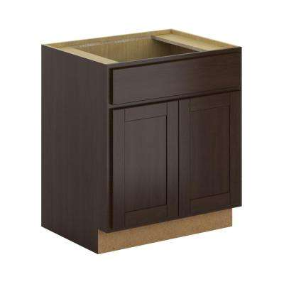 Princeton Shaker Assembled 30x34.5x24 in. Sink Base Cabinet in Java