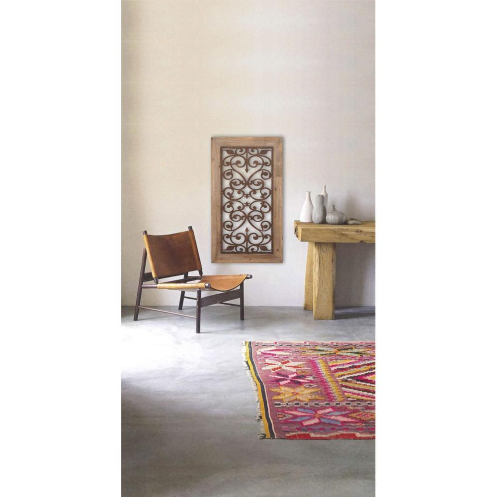Laser Cut 46 in. Rust Wall Panel-85971 - The Home Depot