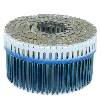 2.5 in. x 0.092 in. 0-Degree Smooth Galvanized Plastic Sheet Coil Nail 4,000 per Box